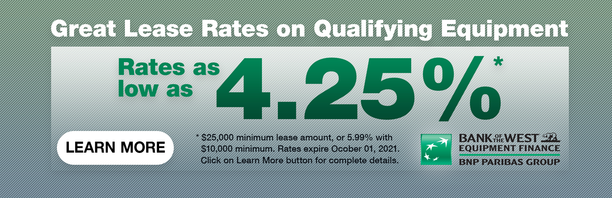 Great Lease Rates available